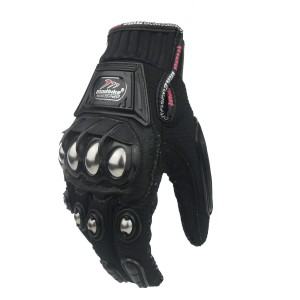 black M Madbike Powersports Motorcycle Motorbike Summer Gloves