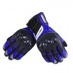 black gloves moto blue