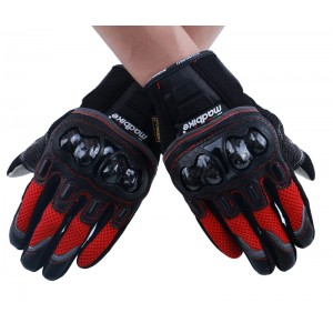 D03 touch screen gloves red